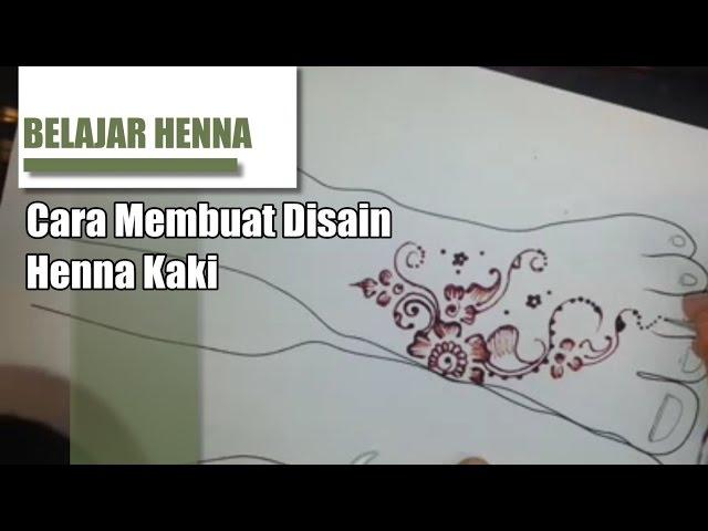 Contoh Gambar Henna Di Kaki Yang Mudah Dan Simple Contoh Gambarkucing