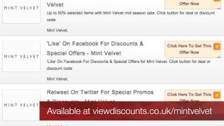 Mint Velvet Discount Codes - UK Voucher Codes