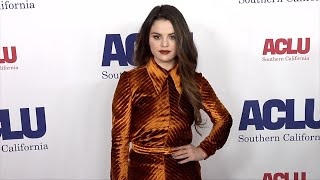 Selena Gomez 2019 ACLU Bill of Rights Dinner Red Carpet Fashion Video