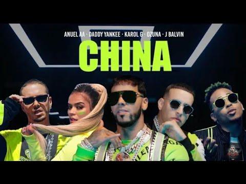 Anuel AA Daddy Yankee J Balvin  China LetraLyrics With English Translation Video