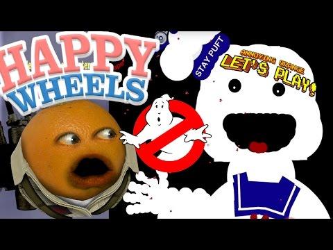 Annoying Orange Plays - Happy Wheels: GHOSTBUSTERS