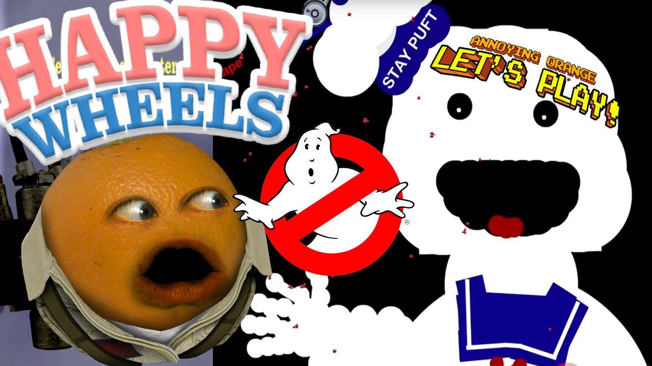 Annoying Orange Plays Happy Wheels Ghostbusters Youtube