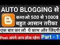 How to Setup for AutoBlogging & Make Money Online via Automatic System - Urdu/Hindi 2018 part - 1