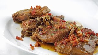 SMOTHERED PORK LOIN CHOPS  EASY TO LEARN  QUICK RECIPES