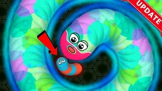 Wormate.io New Update 1 Tiny Monster Bad Worm Hack? Trapping Giant Worms Epic Wormateio Gameplay!