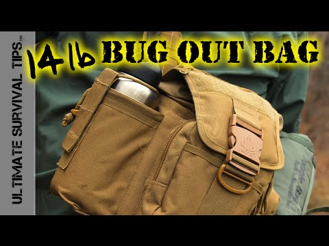 DIY – 14 lb Survival Bug Out Bag  / Get Home Bag – Bug Out Kit Basics