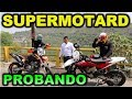 PROBANDO MOTOS SUPERMOTARD KTM SMR 450 Y HUSQVARNA SMR 450