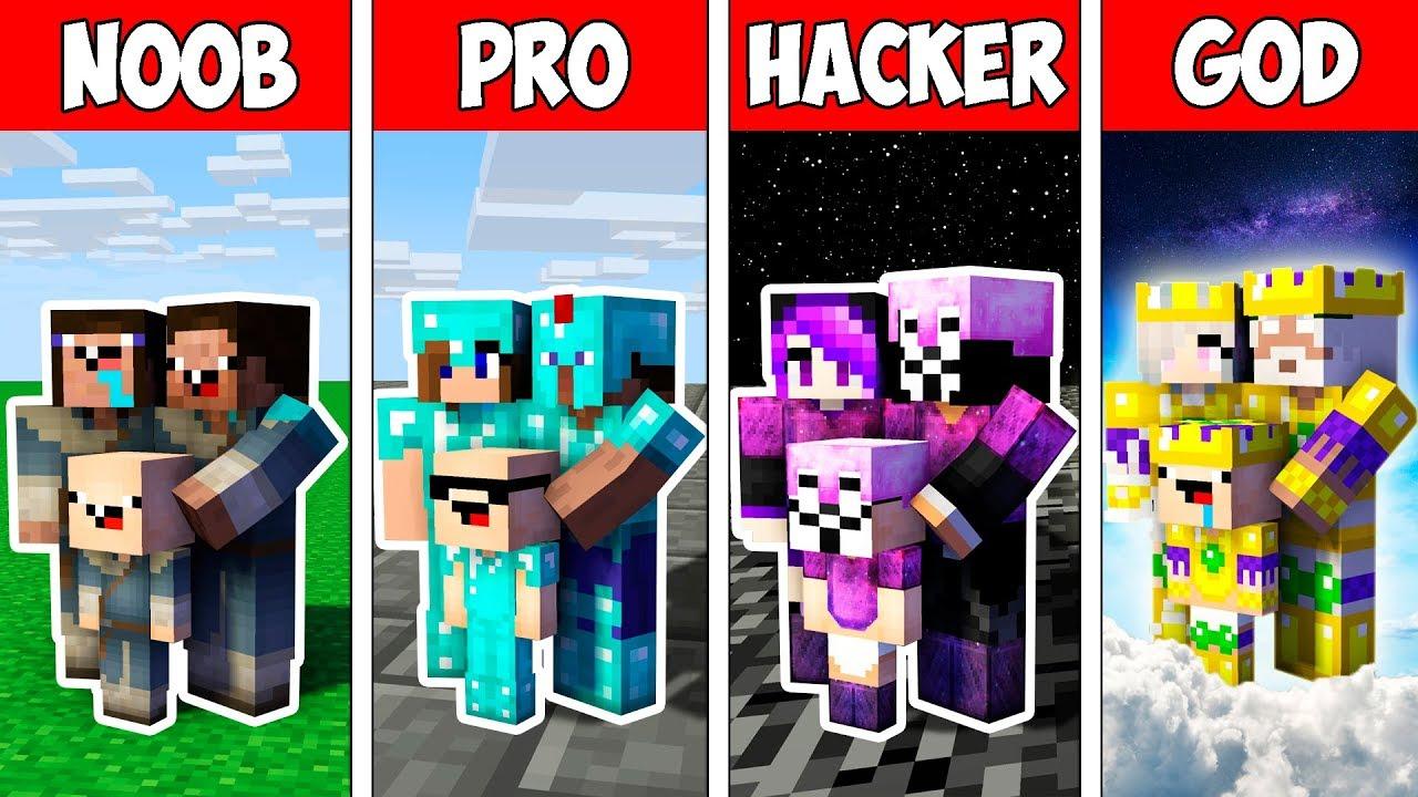 Minecraft NOOB vs PRO vs HACKER vs GOD : FAMILY INFINITY