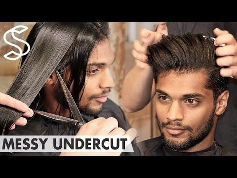 Beckham inspired Undercut ★ Messy back swept ★ Men's hair