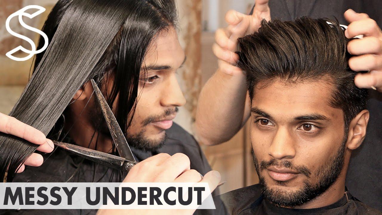 Messy haircut men