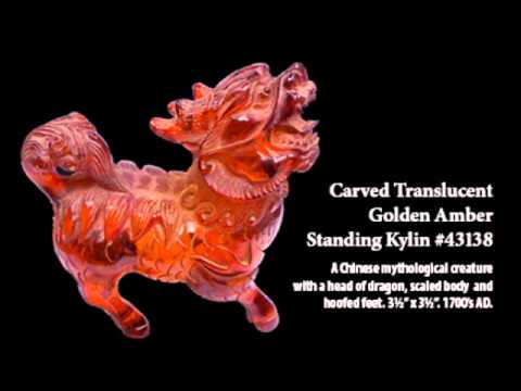 Sadigh Gallery's Asian Amber Statues