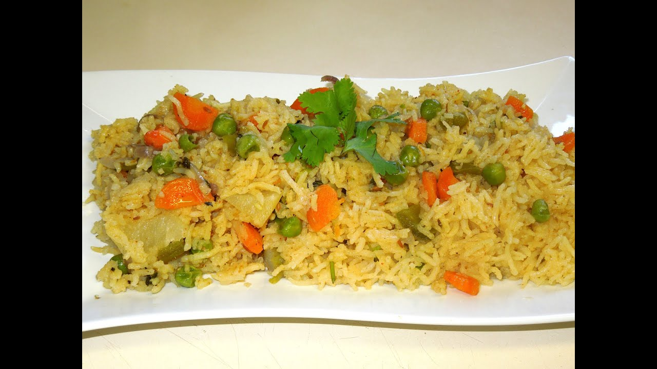 Vegetable rice pulavpulao in microwave by veggie recipe house vegetable rice pulavpulao in microwave by veggie recipe house youtube forumfinder