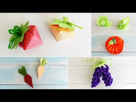 5 DIY Fruits and Vegetables Paper Crafts for Decoration | Best DIY Video | 1 Minute Crafts