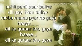 Pehli pehli Baar baliye lyrics | Akshay Kumar,Preity Zinta,Sonu Nigam