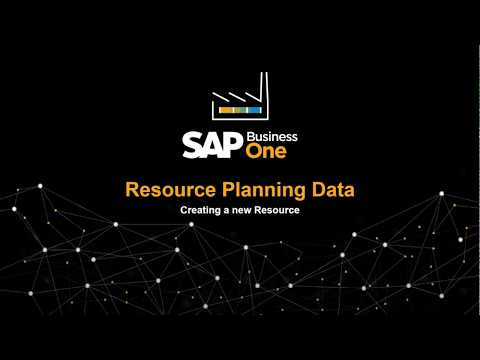 SAP Business One - Resource Planning Data