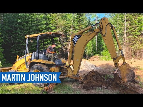 Pulling Stumps with a Backhoe on our Off Grid Property