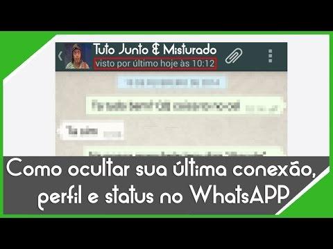 Como desabilitar o visto por último, perfil e status no WhatsAPP-#8 Dica Whatsapp