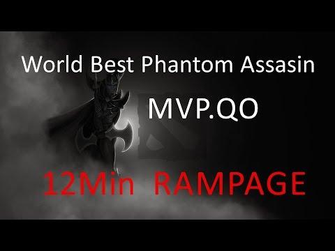 World Best Phantom Assasin MVP.QO 12Min Rampage! [6500 Ranked Dota 2 Gameplay ]