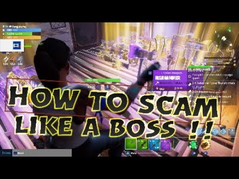 How to scam like a boss Fortnite save the world * must watch*