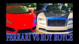 Collins Park. Los carros de los millonarios en Miami Beach. Ferrari, Roy Royce y Mercedes Benz.