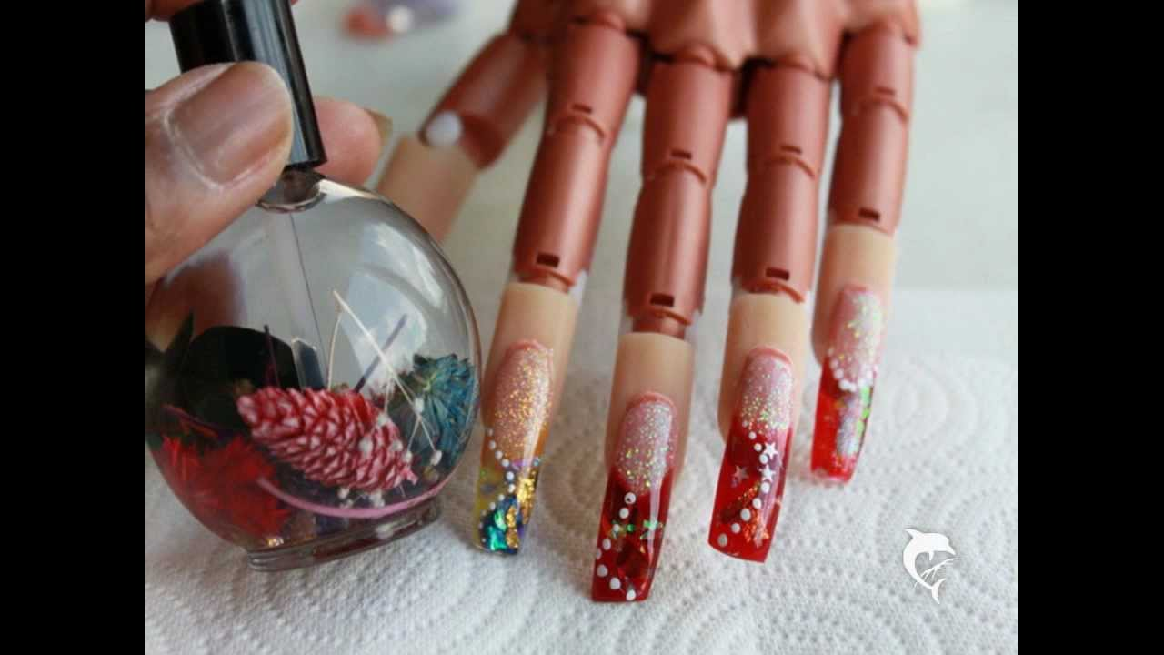Color Acrylic Inlay Nail Art