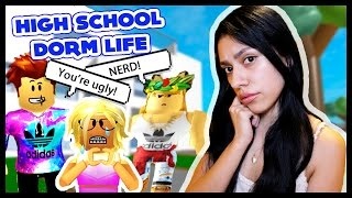 A BULLY MADE HER CRY! - ROBLOX HIGH SCHOOL DORM LIFE