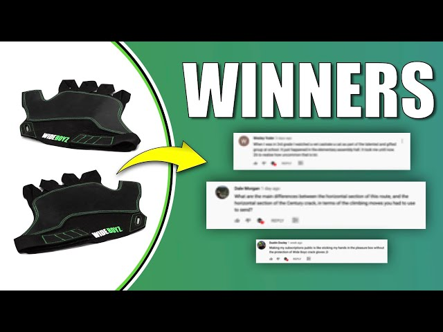Crack Glove Competition WINNERS ANNOUNCED