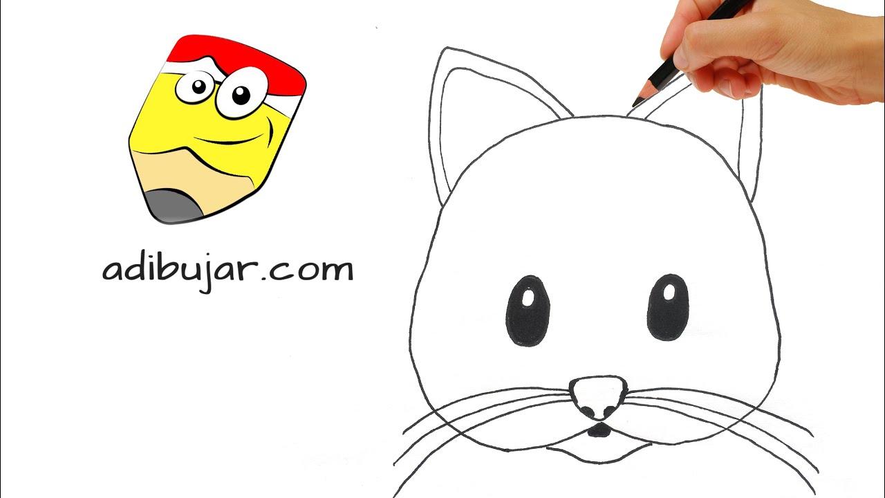 C mo dibujar un gato f cil dibujos de gatos a l piz paso for Comedor facil de dibujar