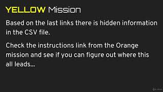 081 Yellow Mission Overview