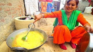 Village Food in India - SUPER SPICY Curry in Rural Punjab, India! Eating NORTH INDIAN Food!!