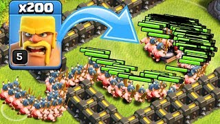 ЧТО БУДЕТ ЕСЛИ ПУСТИТЬ 200 ВАРВАРОВ НА ТОРНАДО?! Clash of Clans