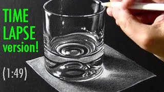 Drawing Time Lapse: White Pencil on Black Paper