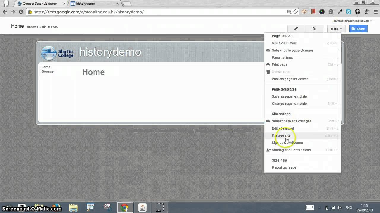 Build a template for an ePortfolio using Google Sites - YouTube