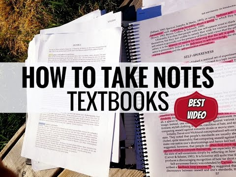 How to Take Notes: Textbooks