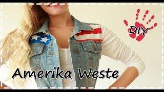 DIY- Amerika Weste   American Flag Vest
