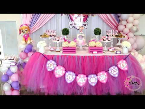 Skye Paw Patrol Birthday Party Decor Setup - DnR  Decor - Toronto, Canada