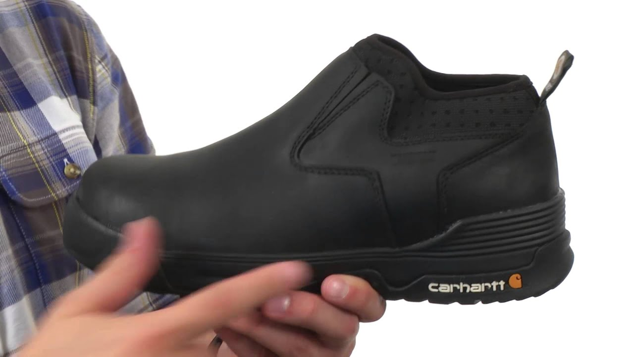 Carhartt 4 Inch Black Waterproof Slip-On SKU:8572021
