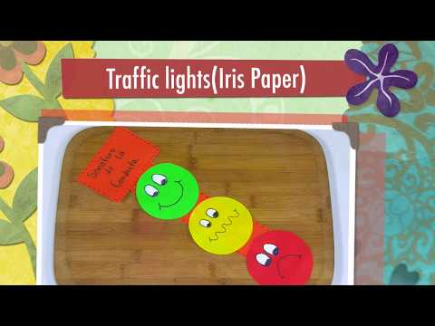 How to Make Traffic Light in Iris Paper- HomeArtTv by Juan Gonzalo Angel