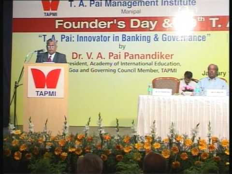 29th T. A. Pai Memorial Lecture:Part#1/5