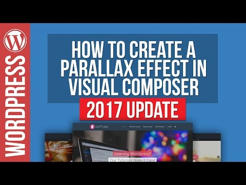 Visual Composer: How To Create Parallax Row Backgrounds 2017 - 동영상