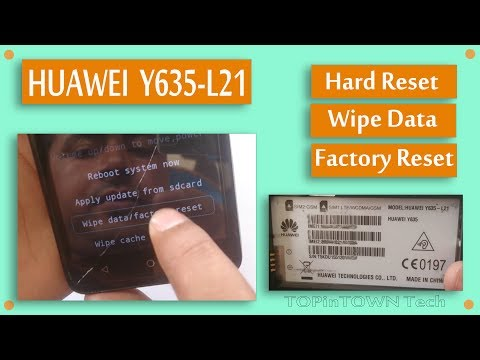HUAWEI Y635📱 (Y635-L21)📱 Hard Reset by 📱TOPinTOWN Tech📱