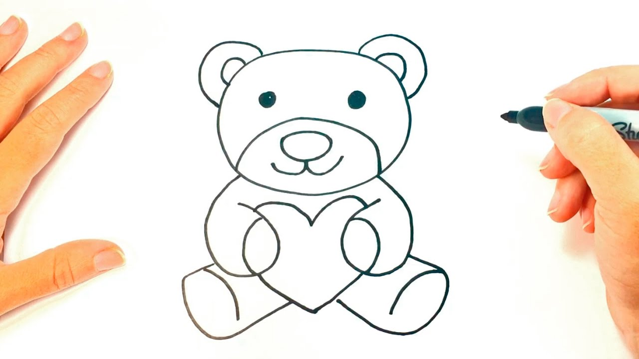 how to draw a teddy bear teddy bear easy draw tutorial youtube
