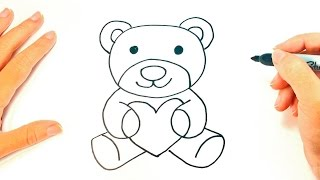 How to draw a Teddy Bear | Teddy Bear Easy Draw Tutorial