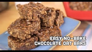 Easy No-bake Chocolate Oatmeal Bar Recipe