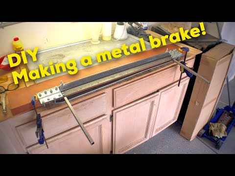 How to make a sheet metal brake with no welding