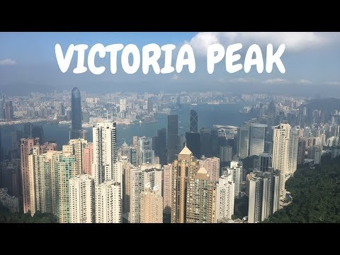 Getting to Victoria Peak and having dinner with a view