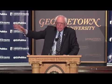Sen. Bernie Sanders Speaks at Georgetown