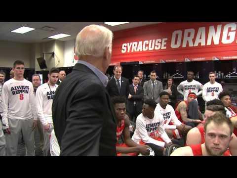 Vice President Joe Biden Addresses Team In Lockeroom