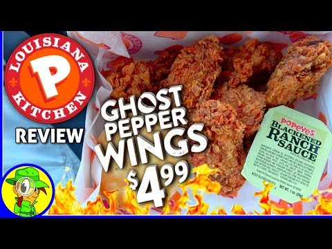 Popeyes® | Ghost Pepper Wings Review! ⚜👻🌶️