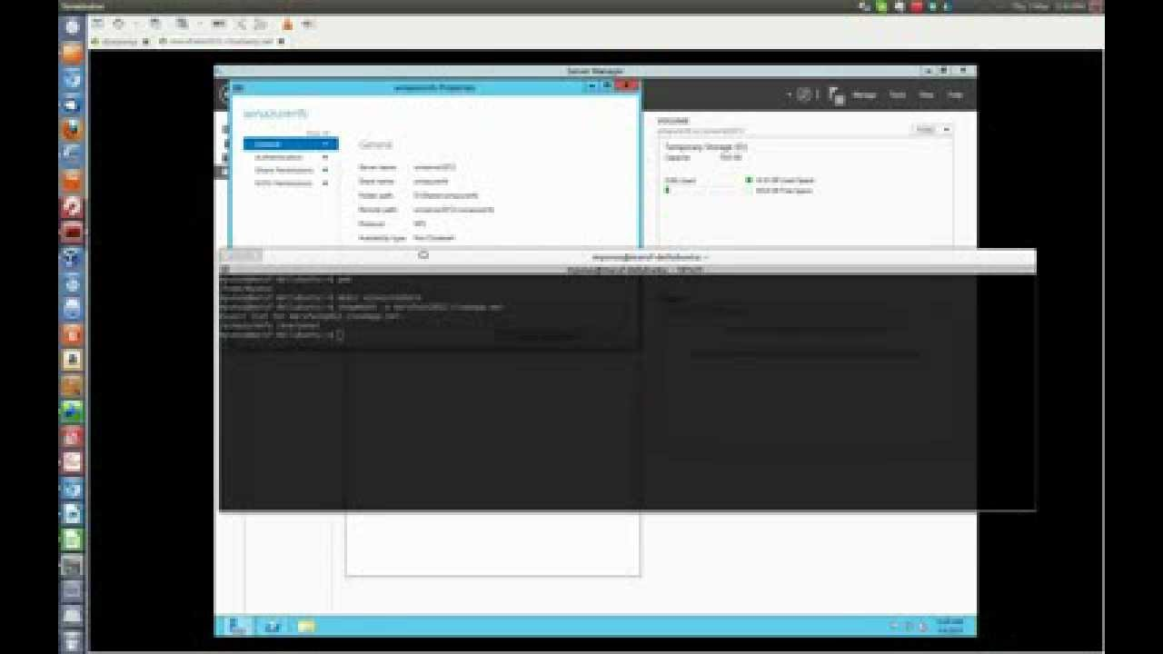 Mounting Windows 2012 NFS share running on Windows Azure from Linux client